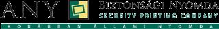 ANY Biztonsági Nyomda Nyrt. Logo