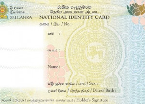 Identity card of Sri Lanka